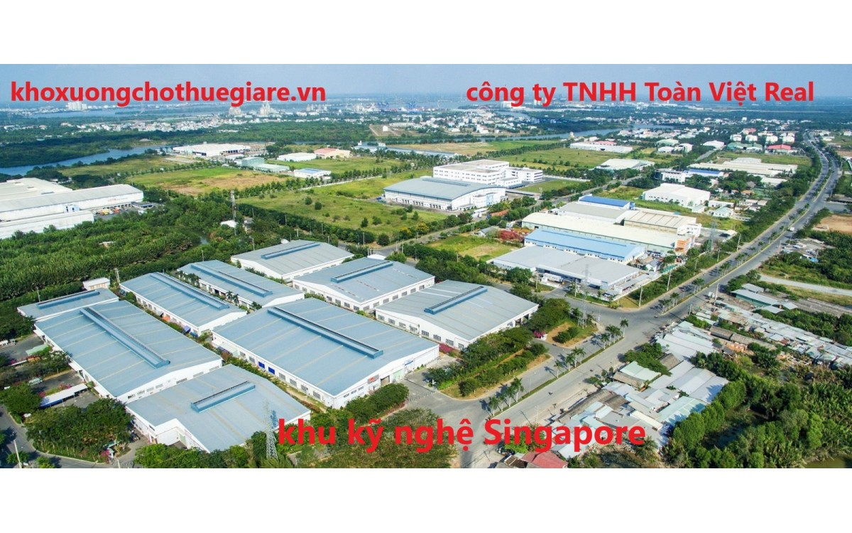 khu kỹ nghệ singapore và hệ thống nhà xưởng mới cho doanh nghiệp.